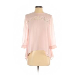 French Connection Pink Lace Blouse Size4